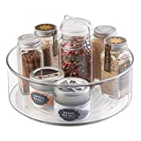 mDesign Lazy Susan Turntable Condiment Holder – Plastic...