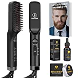 Ceenwes 3 in 1 Professional Beard Straightener with Beard Oil...