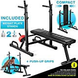 Sportstech Innovative 21in1 weight bench with weight plate stand...