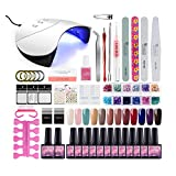 Gel Nail Polish Starter Kit Nail Art 36W UV Lamp LED Dryer 12...