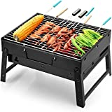 Uten Barbecue Grill Portable BBQ Charcoal Grill Smoker Grill for...