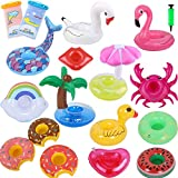 Siundam Inflatable Drink Holder 15 Pack with Free 1 Inflator and...