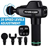 Massage Gun, Deep Tissue Handheld Percussion Muscle Massager with...