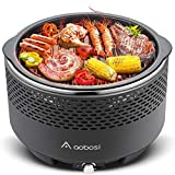 Aobosi Smokeless Barbecue Grill,Portable Barbecue Charcoal...