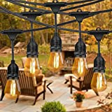 Amabana Outdoor Led String Lights 48Ft, Waterproof Connectable...