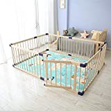 Dripex Wooden Baby Playpen, 8 Panels Large Play Fence for...