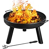 femor Fire Bowl Diameter 60 cm with Handles,Removable Metal Fire...
