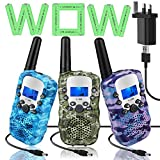 Topsung 3 Walkie Talkie Rechargeable for Kids Two Way Radios Long...