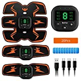 BuFan Abs Trainer, EMS Muscle Stimulator LCD Display & USB...