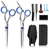 Hair Cutting Scissors Kits, Stainless Steel Hairdressing Shears...