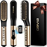 Beard Straightener Comb for Men, LED Display Electric Quick Hair...