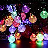 Solar Garden Lights, 50 LED 24Ft Outdoor String Lights...