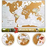 Scratch the World® Travel Map - Scratch Off World Map Poster...