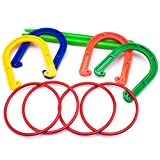 Plastic Horseshoe and Ring Toss Game Set (2 in 1) by K-Roo Sports