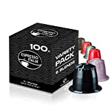 Nespresso Compatible Capsules | Variety Pack 100 Coffee Pods |10...