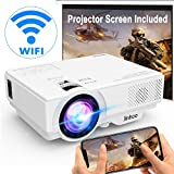 [Wifi Projector] Wireless Projector Supports 1080P Full HD [With...