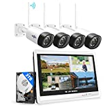 [3.0MP+3TB HDD]Hiseeu Wireless Security Camera System with...