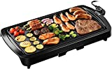 Homasy Electric Griddle 1800W Indoor Smokeless Nonstick Pancake...