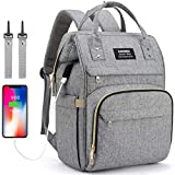 Baby Changing Bag Backpack, Nappy Bag Backpack with USB Charging...