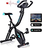 ANCHEER Exercise Folding Bike, Stationary Cycle Indoor Upright...