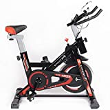 Sport24 Stationary Upright Exercise Spinning Bike for Home Use...