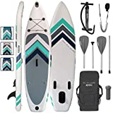 ALPIDEX SUP Package Stand Up Paddle Board Inflatable 305 x 76 x...