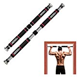 ONETWOFIT Door-Frame Pull-Up Bar, Wide Grip Heavy-Duty Metal and...