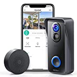 Victure Wireless Video Doorbell Camera with 1080P HD, Smart...