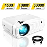 ELEPHAS Projector, GC333 Portable Projector with 4500 Lumens and...