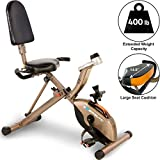 Exerpeutic GOLD 525XLR Folding Recumbent Exercise Bike - with 181...