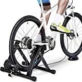 Yaheetech Magnetic Turbo Trainer Foldable Indoor Bike Trainer...