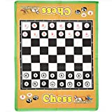 Jumbo Chess Carpet, Giant Game Board with Chess Pieces (34 x 26...