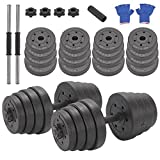 Mutiwill Unisex's 30Kg Adjustable Weight Lifting Dumbbell Barbell...