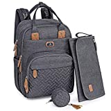 Changing Bag Backpack, Dikaslon Large Nappy Back Pack...