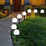 FLOWood LED Solar Garden Light, Solar Globe Lights Outdoor Globe...