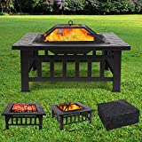 Femor [Upgraded] Large 3 in 1 Fire Pit with BBQ Grill...