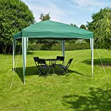 Kingfisher 3 x 3 metre Pop-Up Gazebo Party Tent Green and White...