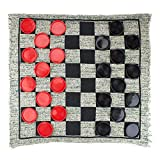 cheerfulus-123 3-in-1 Giant Jumbo Checkers,Large Rug Checkers...