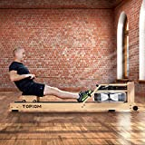 MorNon Home Rowing Machine Wooden Indoor Rowing Machine with...