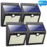 Solar Lights Outdoor, Pxwaxpy [97 LED-4 Pack] Super Bright Solar...