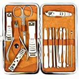 H&S Nail Clippers Manicure Set Grooming Kit for Thick Nails...