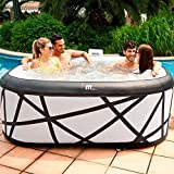 MSPA BOLD LOOKING Square Soho Bubble Inflatable Hot Tub Portable...
