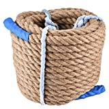 Alomejor 20m Jute Rope Durable Natural Jute Climbing Rope for...