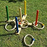 GrowUpSmart Ring Toss Game Set for Kids and Adults - Fun On The...