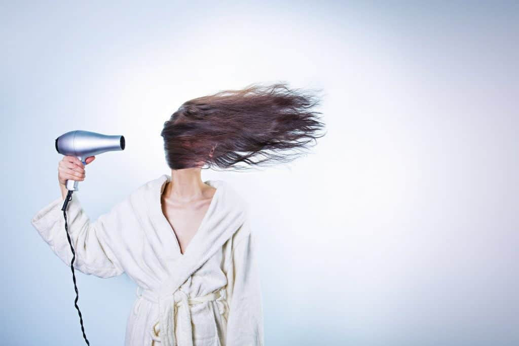 how to blow dry hair with hot air brush