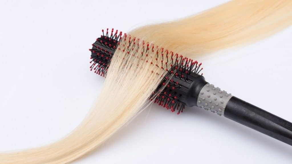 how to use a rotating hot air brush